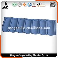 Color coated roofing sheet unti-UV corrugated sheet for roofing price stone chip coated steel roofing tile