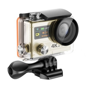2017 High Quality Ambarella A12 Real 4K Action Camera with Remote Dual Screen, Waterproof Action Cam