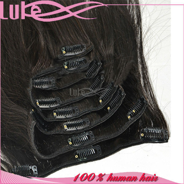 Factory Wholesale Tight Curly 30 Inch Human Hair Extensions Clip In