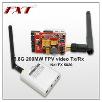 wireless 5.8G 2000MW radio av FPV transmitter receiver kit, for large scale model airplane