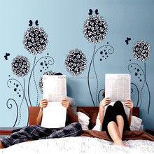 Home Decor Dandelion Flower Wall Decal Removable Bed Room Art Mural Vinyl Wall Sticker Decal