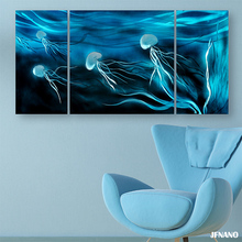2016 Jellyfish Metal Painting Modern Art Wall Decor Oil Painting Modern, Aluminium Print Painting