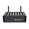 12V fanless X86 mini industrial pc core i3 i5 i7 5500u desktop barebone system computer with pcie slot