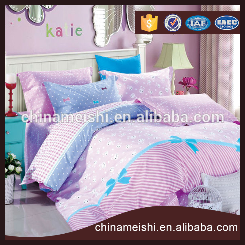 Home textile Lovely Pink bedding sets luxury Full/Queen/King Size Bed Quilt/Doona/Duvet Cover Pillowcases Set