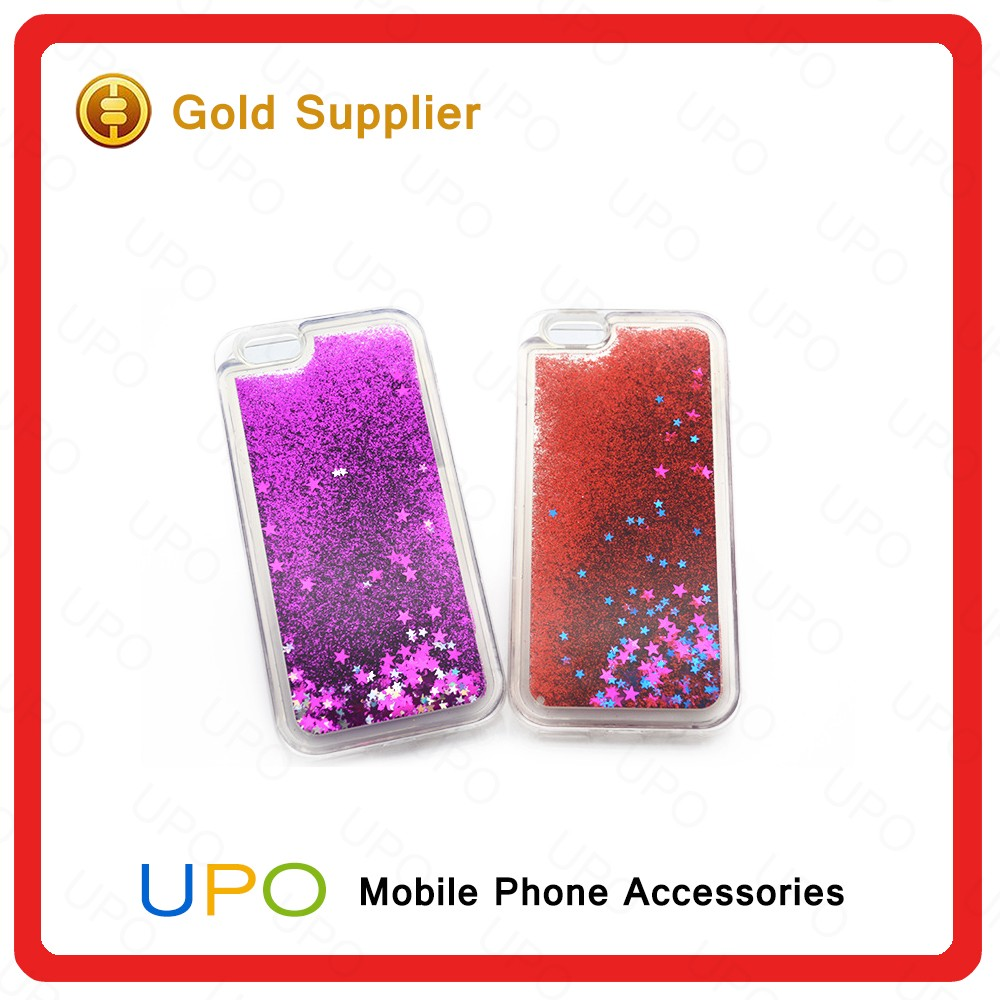[UPO] Fashionable 3D Liquid Star Quicksand Hard PC Back Shell Liquid Cell Phone Case for iPhone 6