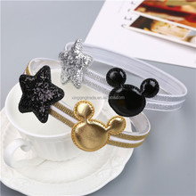Newly Design Mickey Children's Elastic Hair Band Girls Hair Accessories Baby Star Shining Headbands Kids Headwear