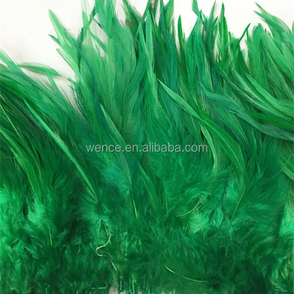 Green color cock feather saddles