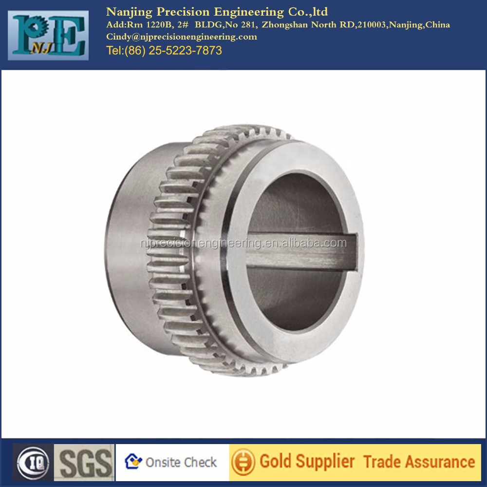 precision cnc machining stainless steel sleeve gear coupling