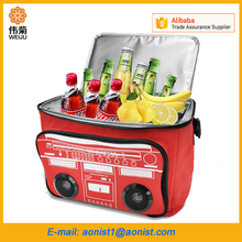Outdoor beach Insulated Wireless Bluetooth Cooler Bag With Speaker radio
