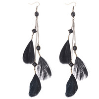 beautiful new design feather earrings for girls