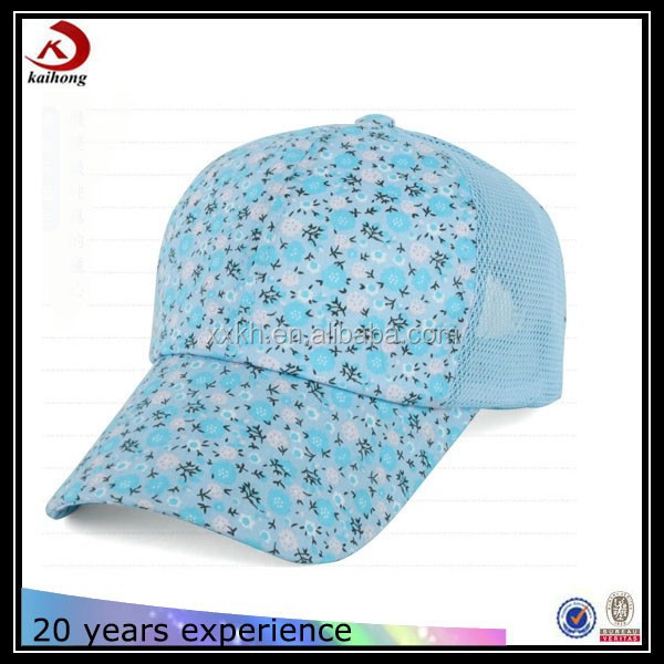 van distressed floral cap type trucker mesh cap wholesale