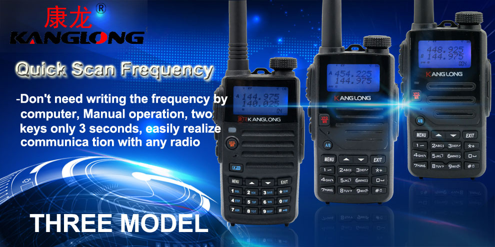 3 Seconds Quick scan Frequency Handheld Two Way dual band walkie-talkie radio vhf uhf