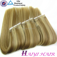 2016 New Arrival Thick Bottom Double Drawn sew in human hair extensions blonde
