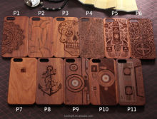 Natural Carved Real Wood+PC Wooden Hard Case Cover Protect For iPhone se 5S 6 6S 7 Plus Mobile Phone Case