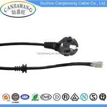 French standard plugs with tail outer sheath power supply cord,European general standard electrical plug