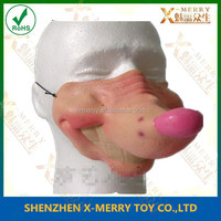 X-MERRY Soft face latex mask fool day half face big nose of animal mask for party