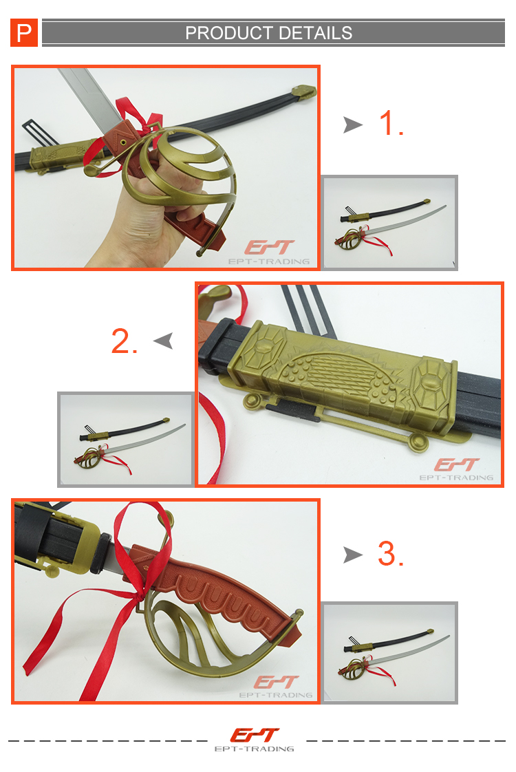 Cheap plastic toy weapon sword for kids