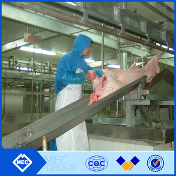 Pig slaughtering plant machine