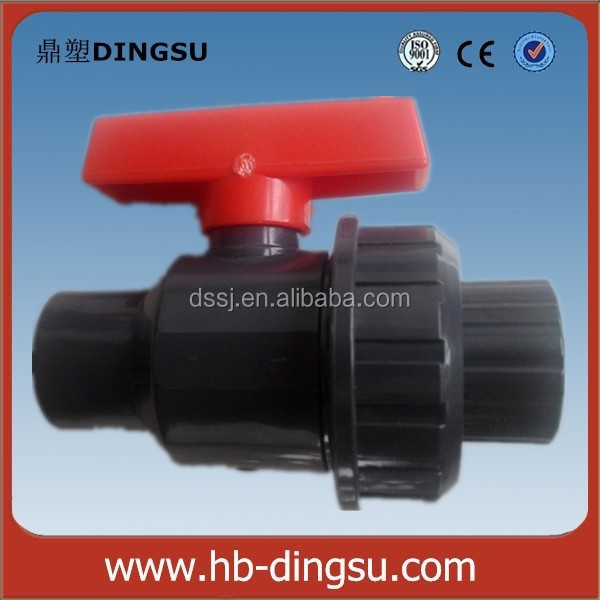 Popular high quality with pvc ball vale drawing plastic pvc trunnion ball valve