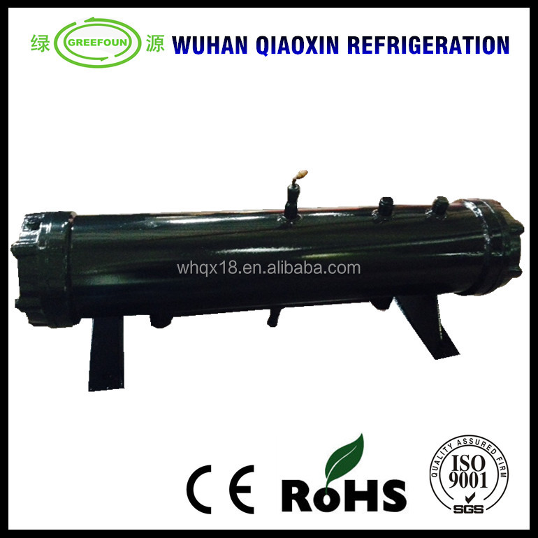 Industrial refrigeration heat exchanger shell and tube condenser marine condensing unit