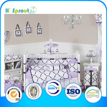 European Style Cotton Crib Luxury Bedding Brands Suitable for Baby Cot