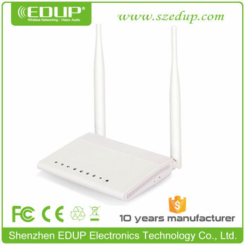 802.11b/g/n 300Mbps ADSL Router with RJ11 RJ45 Cable and Splitter