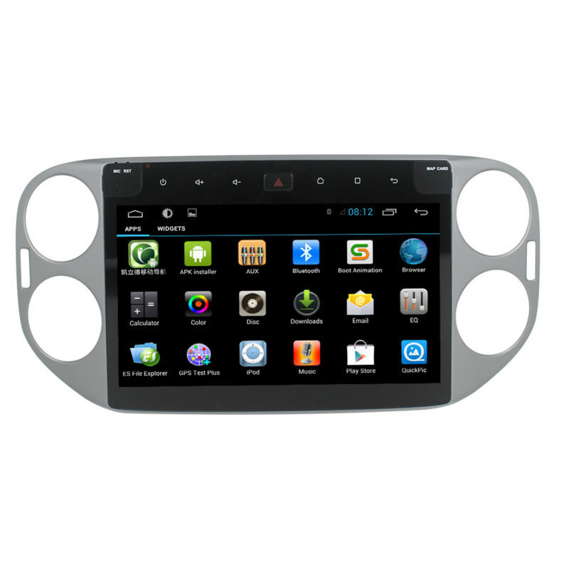 10.1 Inch Full-touch Screen without dvd for VW Tiguan Android 4.4.2 car gps navigation with 3G wifi