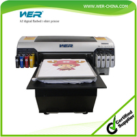 2016 Popular WER-D4880T Desktop type Direct to Garment T-shirt Flatbed Printer T-shirt printing machine