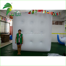 Hanging Advertising Helium Inflatable Balloon , Inflatable Cube Square for Advertisement