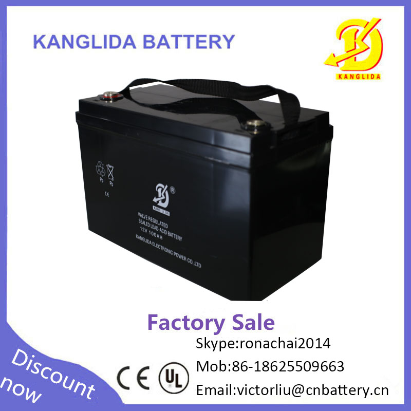 Kanglida 12V 100AH Solar battery not electric bike battery price