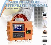 Waterproof/dustproof/shockproof portable Fingerprint time attendance system with GPRS(TFT500P)