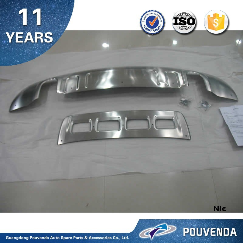 OEM Chrome Front and Rear bumper skid Plate For Audi Q5 2.0T 2013 bumper guard Auto Accessories From Pouvenda