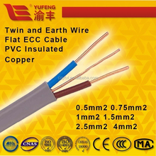 BVVB standard flat ECC cable PVC jacket twin and earth wire