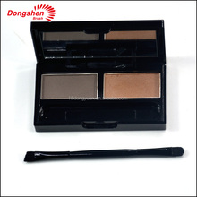 Double sides synthetic hair makeup eyebrow brush