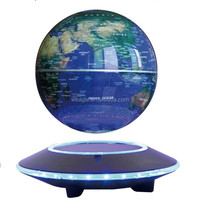 Popular UFO base magnetic levitation 6 inch globe valuable pictures of the globe