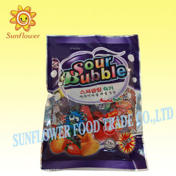 Mix Fruit Flavor Sour Bubble Hard Candy