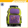 colorful cute butterfly embroidery kids trolley bag