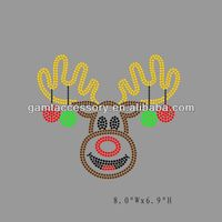 Christmas deer rhinestone transfer hot fix motif