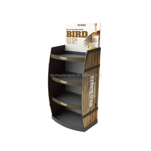 Custom cardboard advertising wine and coffee retail display for promotion