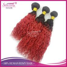 Top grade 100% human ombre hair braiding hair, brazilian ombre weave hair, sew in human hair weave ombre hair