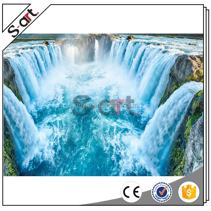 Waterfall natural scenery 3d painting picture for living room home house hotel decoration