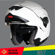 New DOT ECE Flip-up Elegant Motor Cycle Accessories White Helmet