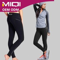 Hot Sale Fashion Supplex Seamless Women Sexy Running Pants With Reflect Zippers