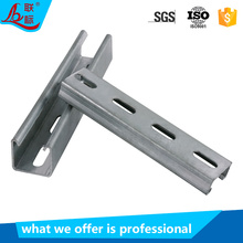 Factory supply hot dip galvanized strut slotted channel metallic steel c channel