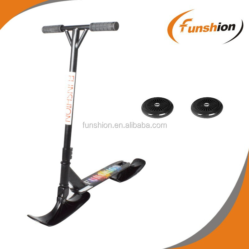 2 IN 1 snow bike adult scooter with plastic ski and wheels
