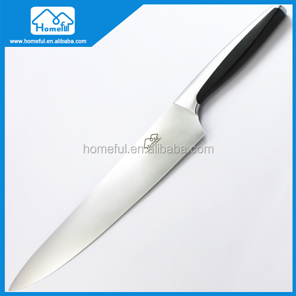 Long lasting sharp blade stainless steel chef cooking knife