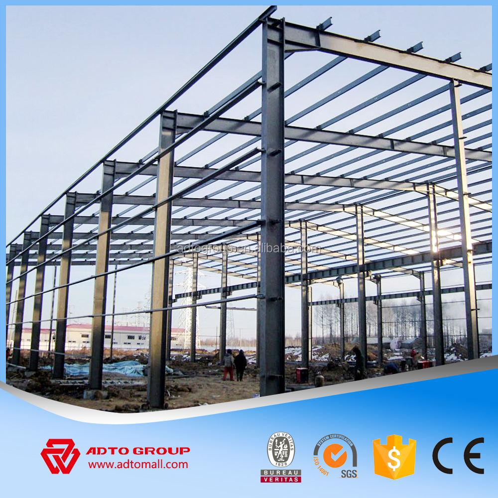 long span light peb steel structure metal hotel building
