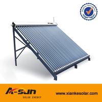 2016 jiaxing non pressure three target vacuum tube solar collector for project
