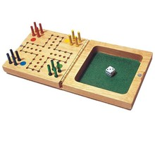 Travel set wooden Ludo board game