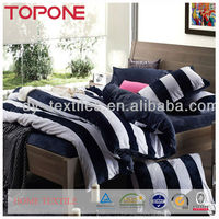 China plain stripe design comforter bedding sets low price